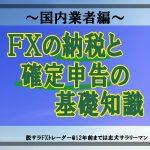 FXの納税と確定申告の基礎知識(国内業者編)