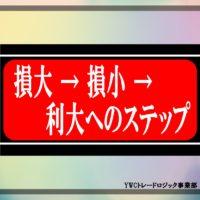 損大 → 損小 → 利大へのステップ