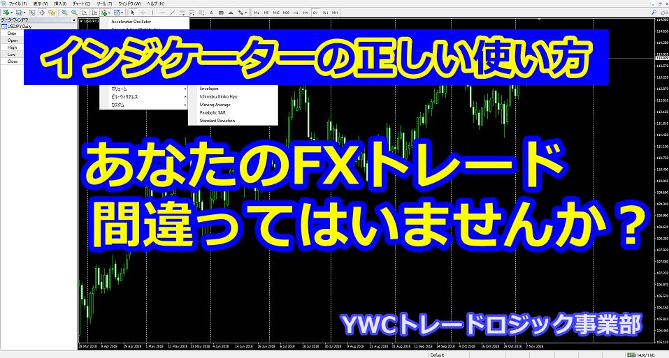 あなたのFXトレード間違ってはいませんか?FXトレーダーブログ|YWCトレードロジック事業部